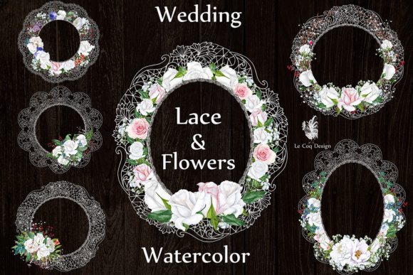 Download Free Watercolor Lace Frames Clipart Wedding Lace Clipart Floral for Cricut Explore, Silhouette and other cutting machines.