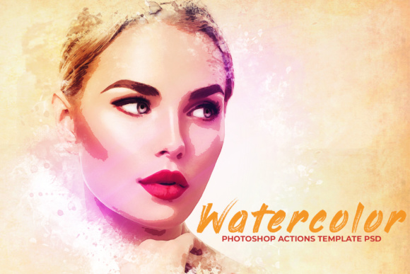 Print on Demand: Watercolor Photoshop PSD Template Gráfico Add-ons Por Creative Tacos