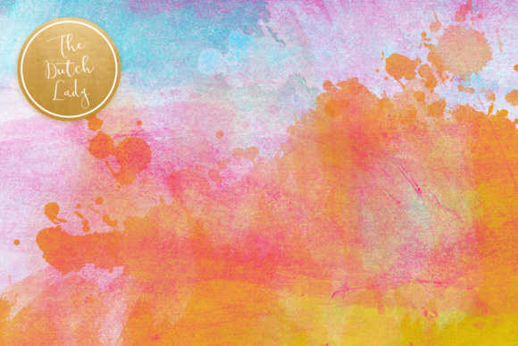 Print on Demand: Watercolor Rainbow Scrapbook Papers Graphic Textures By daphnepopuliers - Image 2