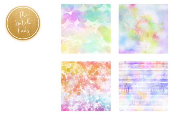 Print on Demand: Watercolor Rainbow Scrapbook Papers Graphic Textures By daphnepopuliers - Image 4