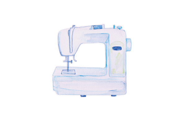 Download Free Watercolor Sewing Machine Svg Cut File By Creative Fabrica for Cricut Explore, Silhouette and other cutting machines.