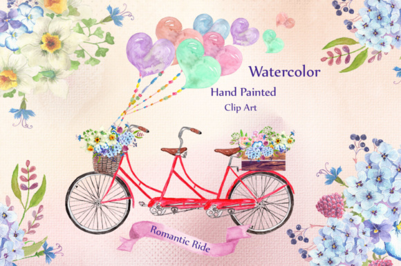 Watercolor Bouquets Clipart Graphic Illustrations By LeCoqDesign