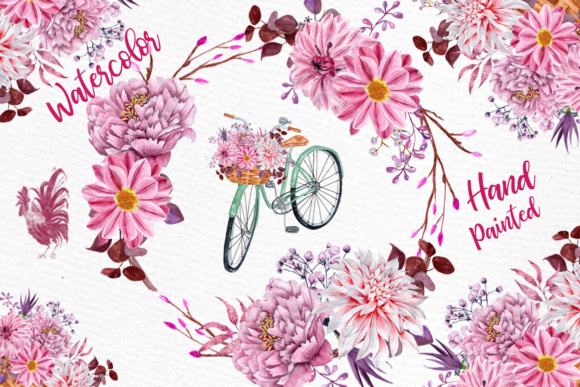 Watercolor flowers clipart floral clipart floral bicycle wedding watercolor flowers clipart floral clipart floral bicycle wedding clipart floral bouquets pink flowers mightylinksfo
