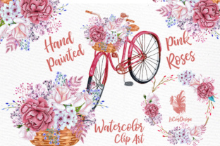 Download Free Watercolor Flowers Clipart Graphic By Lecoqdesign Creative for Cricut Explore, Silhouette and other cutting machines.
