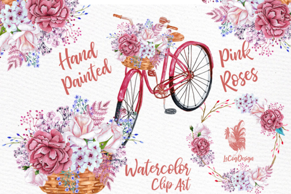 Watercolor Flowers Clipart. Graphic Illustrations By LeCoqDesign