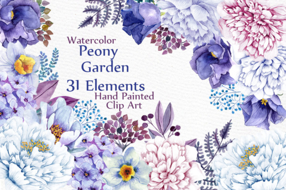 Watercolor Flowers Clipart Graphic Illustrations By LeCoqDesign