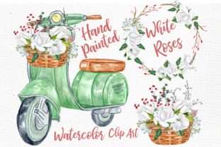 Download Free Watercolor Roses Clipart White Flowers Clipart White Roses Clipart for Cricut Explore, Silhouette and other cutting machines.