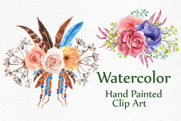 Watercolor Tribal Clipart Graphic Illustrations By LeCoqDesign - Image 3