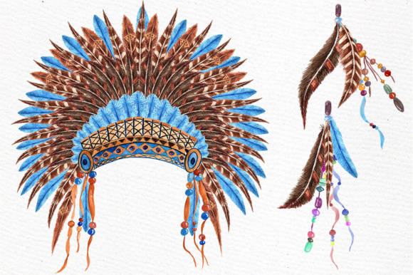 Watercolor Tribal Clipart Graphic Illustrations By LeCoqDesign - Image 4