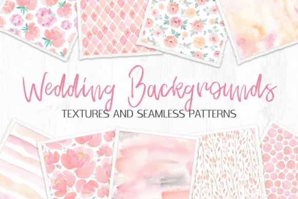 Wedding Backgrounds: Textures and Patterns Graphic By switzershop