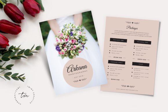 Wedding Price List | Wedding Pricelist Flyer Graphic By Tmint Creative Fabrica