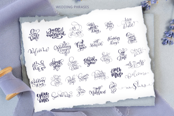 Wedding Vector Calligraphy Graphic Objects By Happy Letters - Image 2