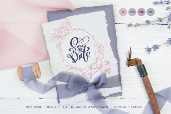 Download Free Wedding Vector Calligraphy Graphic By Happy Letters Creative for Cricut Explore, Silhouette and other cutting machines.
