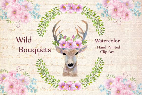 Wedding Flowers Bouquets Clipart1 Graphic Illustrations By LeCoqDesign