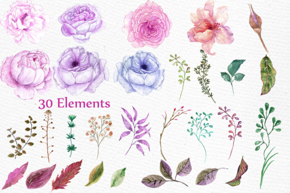 Download Free Wedding Flowers Clipart Graphic By Lecoqdesign Creative Fabrica for Cricut Explore, Silhouette and other cutting machines.