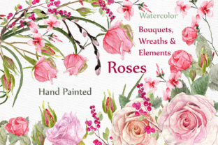 Print on Demand: Wedding Roses Bouquets Clipart Graphic Illustrations By LeCoqDesign