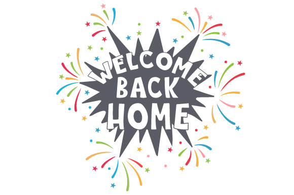 Download Free Welcome Back Home Svg Cut File By Creative Fabrica Crafts for Cricut Explore, Silhouette and other cutting machines.