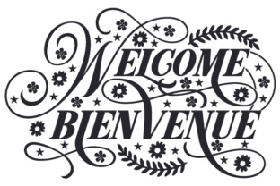 Welcome Bienvenue Craft Design By Creative Fabrica Crafts