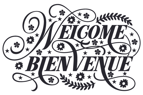 Download Free Welcome Bienvenue Svg Cut File By Creative Fabrica Crafts for Cricut Explore, Silhouette and other cutting machines.