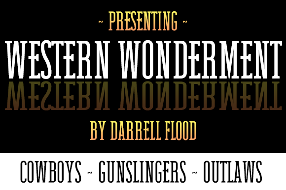 Print on Demand: Western Wonderment Serif Font By Dadiomouse