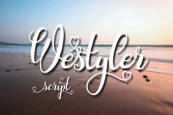 Print on Demand: Westyler Script & Handwritten Font By Eva Barabasne Olasz