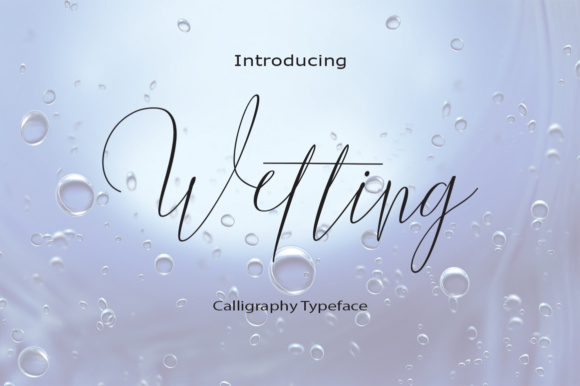 Print on Demand: Wetting Script & Handwritten Font By Naqsya.Co