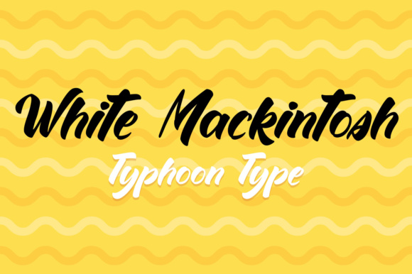 Print on Demand: White Mackintosh Sans Serif Font By Typhoon Type - Suthi Srisopha