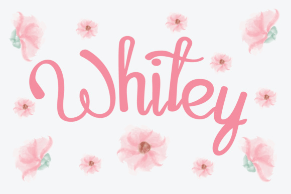 Print on Demand: Whitey Script Script & Handwritten Font By Lickable Pixels