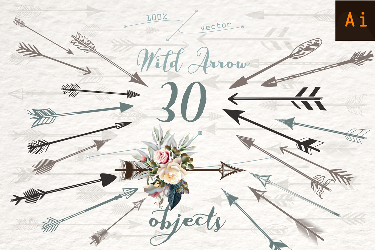 Download Free Wild Arrow Vector Clipart Set Graphic By Fleurartmariia for Cricut Explore, Silhouette and other cutting machines.