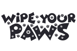Wipe Your Paws Craft Design By Creative Fabrica Crafts
