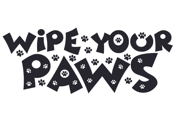 Download Free Wipe Your Paws Svg Cut File By Creative Fabrica Crafts for Cricut Explore, Silhouette and other cutting machines.