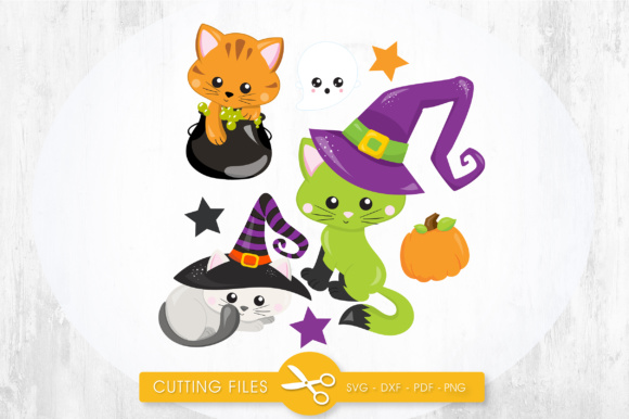 Witchy Poo Kitties Graphic Crafts By PrettyCuttables