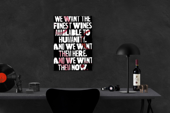 Print on Demand: 'Withnail & I' Move Film Poster Print Wine Quote Print Ready Graphic Crafts By GraphicsBam Fonts