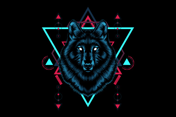 Wolf Sacred Geometry Graphic Illustrations By syndicate.std