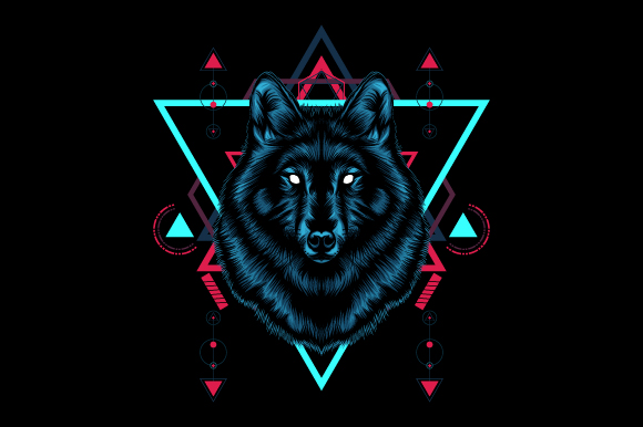 Download Free Wolf Sacred Geometry Graphic By Syndicate Std Creative Fabrica for Cricut Explore, Silhouette and other cutting machines.