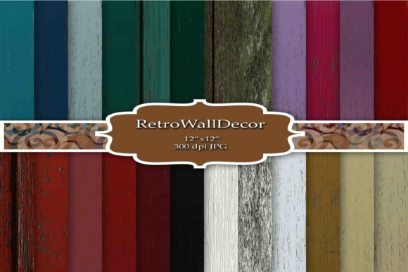 Print on Demand: Wood Digital Papers Graphic Backgrounds By retrowalldecor
