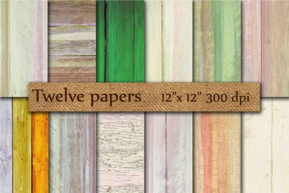 Wood Digital Papers Graphic By twelvepapers