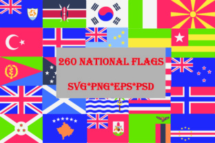 World Flags, 260 Flags Vector Set, PNG EPS PSD SVG Graphic By Best_Store
