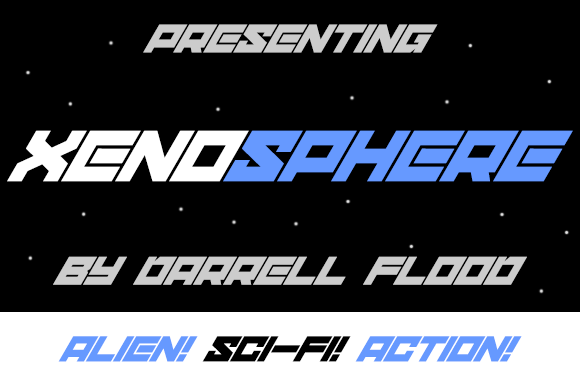 Print on Demand: Xenosphere Display Font By Dadiomouse