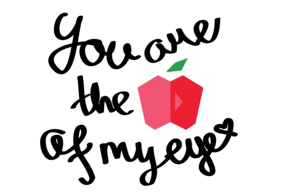 Download Free You Are The Apple Of My Eye Graphic By Nurionart Creative Fabrica for Cricut Explore, Silhouette and other cutting machines.