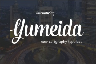 Yumeida Font By screen letter