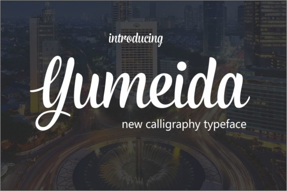 Print on Demand: Yumeida Script & Handwritten Font By screen letter