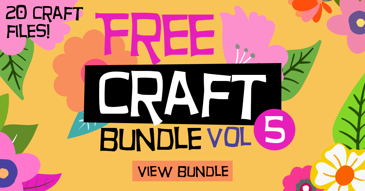 Download Free Free Craft Bundle Vol 5 Bundle Creative Fabrica for Cricut Explore, Silhouette and other cutting machines.