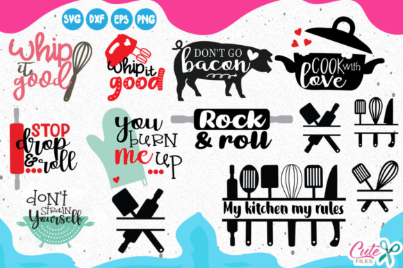 Download Free Kitchen Bundle Graphic By Cute Files Creative Fabrica for Cricut Explore, Silhouette and other cutting machines.