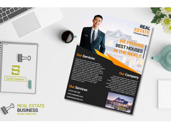 Real Estate Business Flyer Template Design (US Flyer Size | Editable File) Graphic Print Templates By Saidi Creative - Image 2
