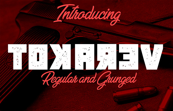 Print on Demand: Tokarev Display Font By vladimirnikolic