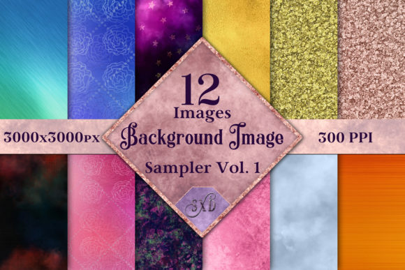 Print on Demand: Background Image Sampler Vol. 1 Graphic Backgrounds By SapphireXDesigns