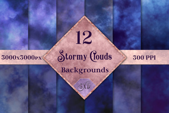 Stormy Clouds Background Images - 12 Image Set Graphic By SapphireXDesigns