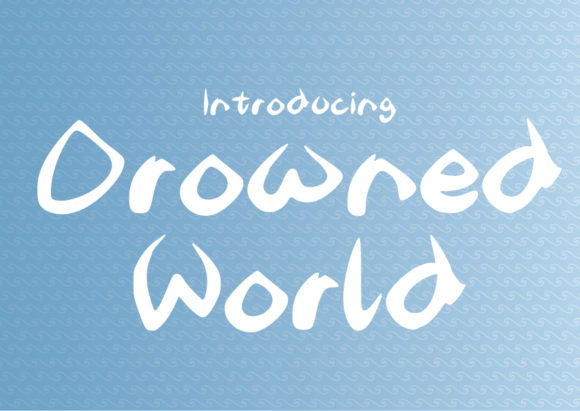 Print on Demand: Drowned World Display Font By GraphicsBam Fonts