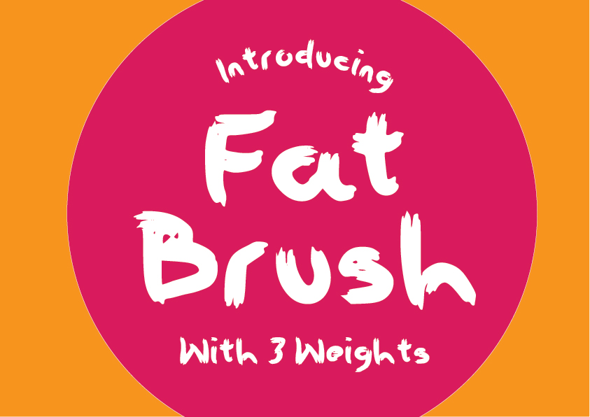 Download Free Fat Brush Font By Graphicsbam Fonts Creative Fabrica for Cricut Explore, Silhouette and other cutting machines.